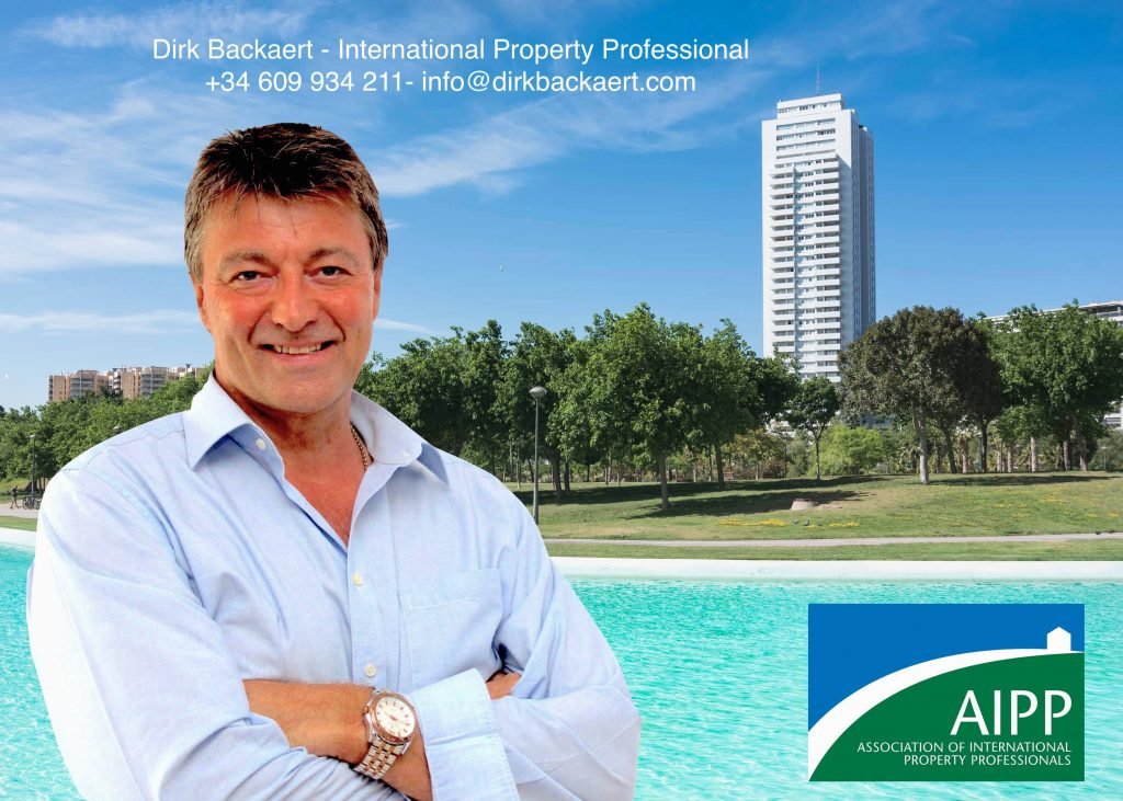REAL ESTATE AGENT - AGENTE INMOBILIARIO - DIRK BACKAERT - API - INTERNATIONAL PROPERTY PROFESSIONAL - AIPP - INTERMEDIACIÓN - INMOBILIARIA - VALENCIA INMUEBLES - VALENCIA - SPAIN